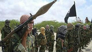 'Yan kungiyar Al Shabaab a Somalia