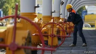 Trabajador de Gazprom operado equipo