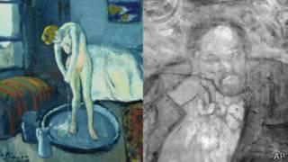 """Detalle de """"La Habitación Azul"""" y la pintura que esconde"""
