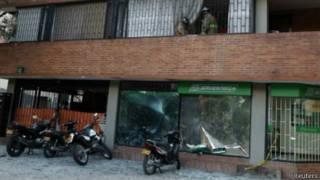 Lugar de la explosión en Chapinero