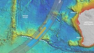 mapa de nova área de buscas do voo   Governo australiano