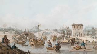 英國畫家威廉•亞歷山大以首個英國駐華使團船隊為主題的畫作