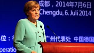 Angela Merkel en Chengdu