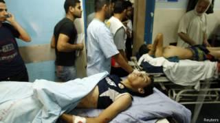 Heridos en Gaza