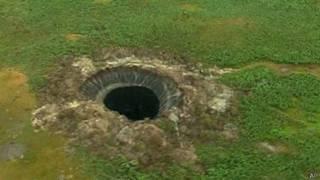 Cráter en Siberia