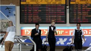 Llegadas canceladas en aeropuerto de Israel.