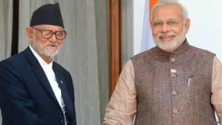 नरेंद्र मोदी और सुशील कोईराला