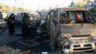 Coche bomba en Bagdad.