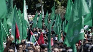 Partidarios de Hamas en Gaza