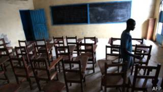 Aula vacía en Liberia