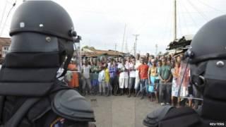 Favela na Libéria. Foto: REUTERS