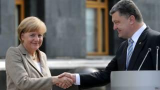 Ангела Меркель и Петр Порошенко в Киеве