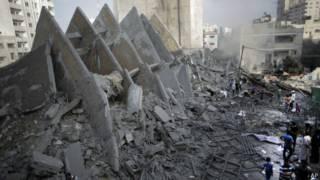 Kerusakan di Gaza