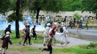 Protestas en Islamabad, Pakistán