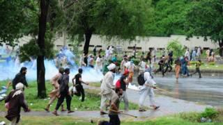 محتجون باكستانيون غاضبون