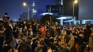 Демонстранты в Гонконге