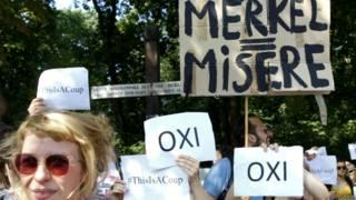 Protesta sobre deuda griega