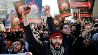 Manifestantes iraníes