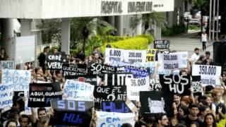 Protesto Hospital Clementino Fraga Filho | EBC