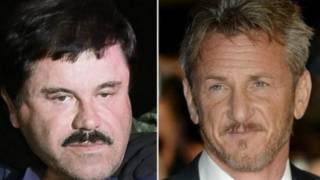 """""""El Chapo"""" Guzmán y Sean Penn"""
