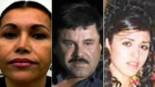 "Alejandrina Salazar, Joaquín ""Chapo"" Guzmán y Emma Coronel"