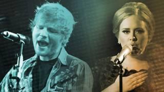 Adele y Ed Sheeran
