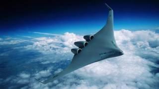 Un diseño de avión Boeing
