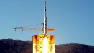 Cohete lanzado por Corea del Norte