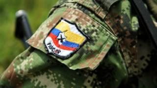 Insignia de las FARC en un uniforme