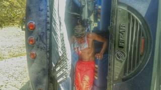 Bus volcado de Huracán