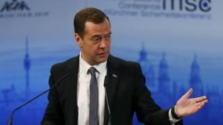 Российский премьер-министр Дмитрий Медведев