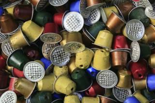 Cápsulas usadas de café