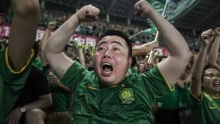 Fanático chino de fútbol