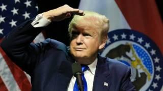 Trump negó que esté provocando una división en la población.