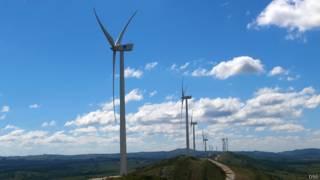 Parque eólico en Uruguay