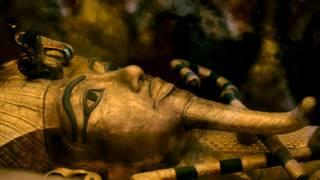 El sarcófago del rey egipcio Tutankamón
