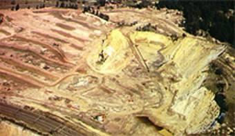 Mine d'or en Afrique du Sud