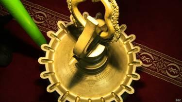 चेरामन पेरुमल मस्जिद में रखा दीया
