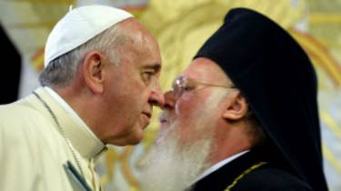El papa Francisco y el patriarca Bartolomé