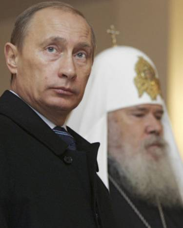 Vladimir Putin y el patriarca Kirill