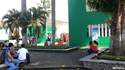 Estación migratoria en Tapachula, México