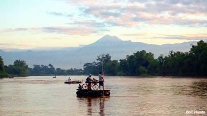 Río Suchiate, frontera entre México y Guatemala