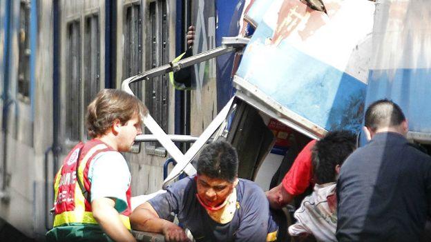 Accidente de tren en Argentina