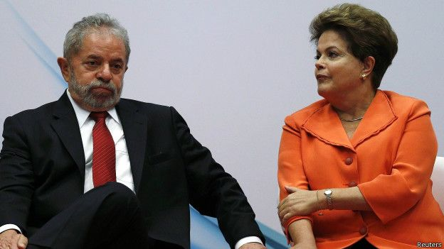 Luiz Inácio Lula da Silva y Dilma Rousseff