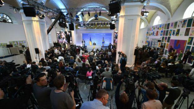 Большие пресс-конференции президент преимущественно собирает в