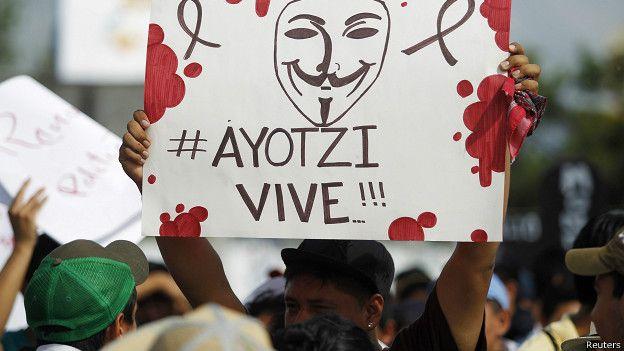 manifestantes exigen el regreso de los estudiantes desaparecidos en Iguala