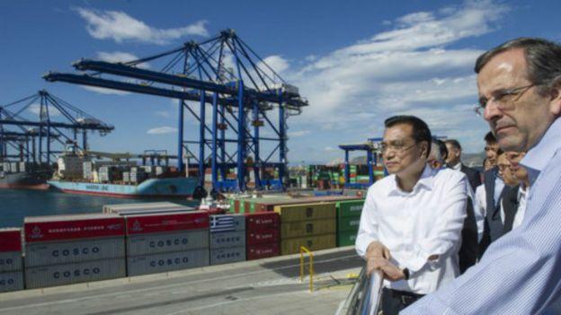 中國總理李克強曾到訪比雷埃夫斯港。