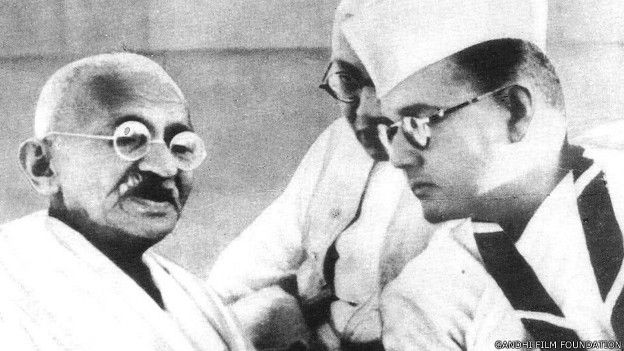 मोहनदास करमचंद गांधी, सुभाष चंद्र बोस
