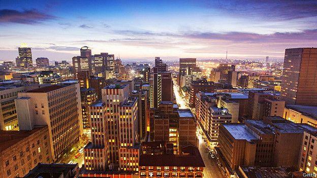 Йоханнесбург на закате солнца