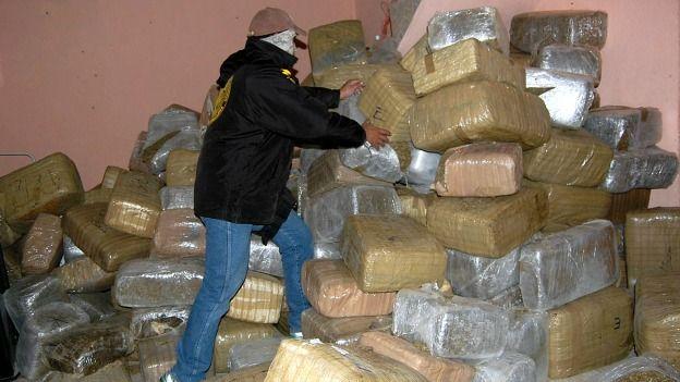 Marihuana confiscada en México.
